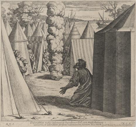 [Chaperon] Nicolas Chapron, Bóg ukazuje się Mojżeszowi w postaci słupa obłocznego