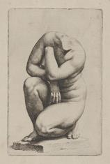 Wenus przykucnięta według rzeźby w pałacu Justyniana w Rzymie