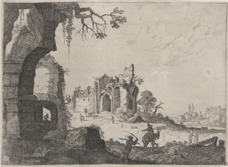 Laurens Baratta, Krajobraz z ruinami antycznymi