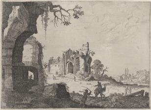 Krajobraz z ruinami antycznymi