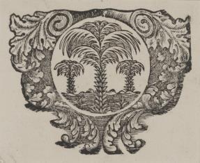 Emblemat z trzema palmami
