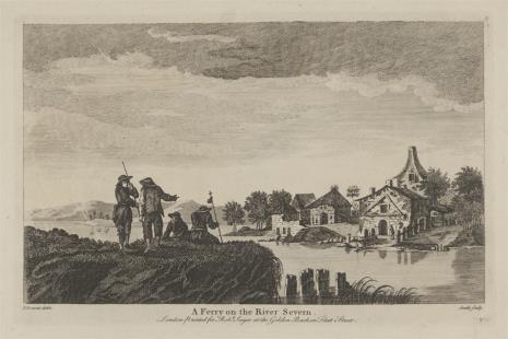Samuel Smith, Widok wioski nad rzeką Severn
