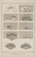 Ilustracja z podręcznika zdobnictwa - wyrób wachlarzy