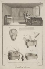 Ilustracja z podręcznika zdobnictwa - dział emalierstwa