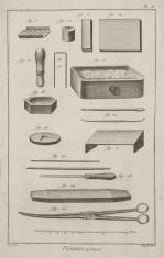 Ilustracja z podręcznika zdobnictwa - dział malowania na emalii