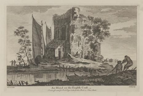 Samuel Smith, Widok wysepki u wybrzeży Anglii
