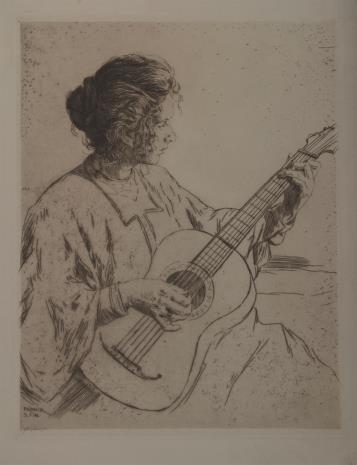 Philipp Franck, Kobieta grająca na gitarze