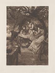 Dwie kobiety i dziewczynka przy stole