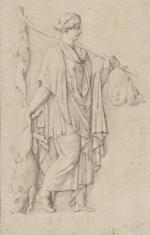Kobieta w szatach antycznych, niosąca zwierzęta ofiarne