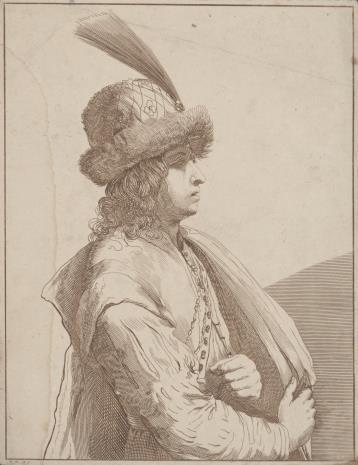 Johann Friedrich Bause, Młodzieniec w stroju orientalnym[?]