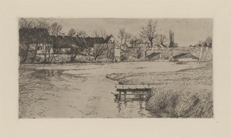 Georg Ernst Dodge, Wioska nad stawem