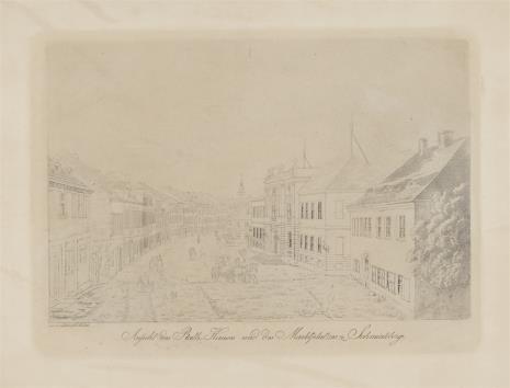 Friedrich August Tittel, Rynek i ratusz w Schmiedeberg