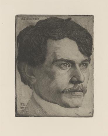 Friedrich Barth, Autoportret artysty [?]