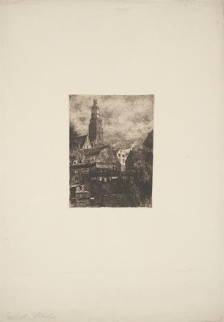 Otto Ferdinand Probst, Widok Wrocławia fragment Starego Miasta
