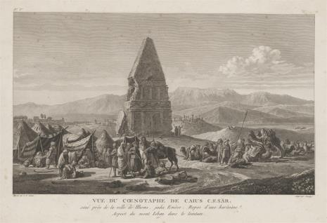 Pierre Charles Baquoy, Widok cenotafu Juliusza Cezara koło Emese w Syrii
