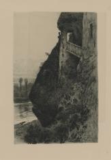 Dom na skale, nad rzeką