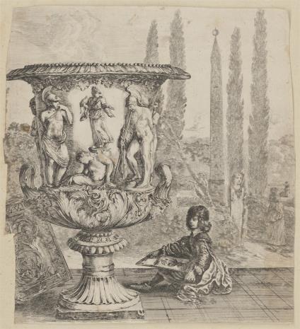 Stefano della  Bella, Waza z ogrodów Medici