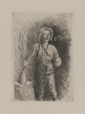 Wieśniak palący fajkę