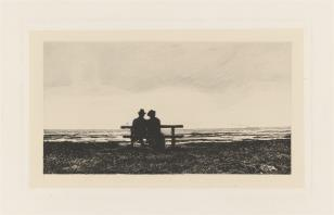 Para ludzi siedzących na ławce