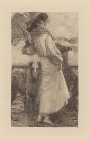 Erich Eltze, Kobieta z dwoma chartami