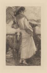 Kobieta z dwoma chartami