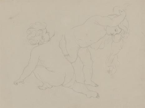 August von Wille, Studium dwu nagich postaci