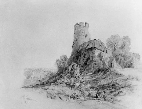 Alexandre Calame, Ruiny zamku
