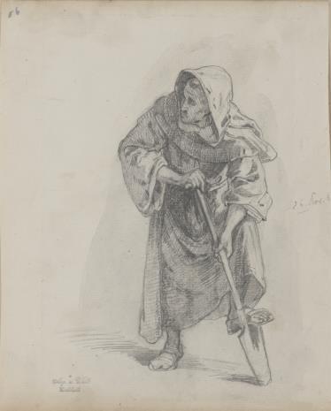 August von Wille, Zakonnik wspierający nogę na łopacie