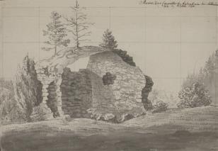 Ruiny kaplicy w Liebenhain