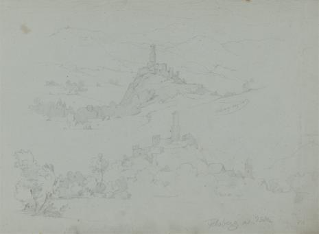 August von Wille, Ruiny zamku Felsberg