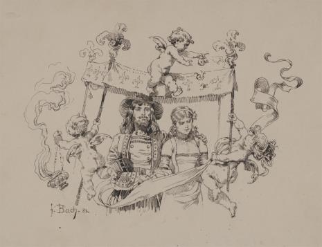 Ferdinand-Sigismund Bac, Młoda para pod baldachimem