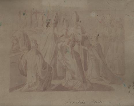 nieznany, Scena konsekracji biskupa