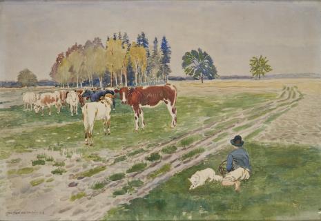 Stanisław Masłowski, Krowy na pastwisku