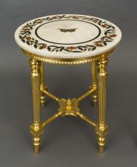 Stół z marmurowym blatem