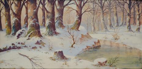 Józef Guranowski, Pejzaż zimowy