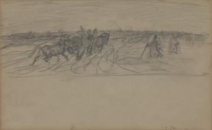 Wóz z końmi i luzakiem