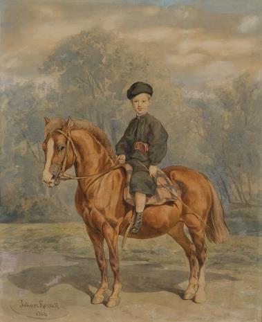 Juliusz Kossak, Chłopczyk na koniu