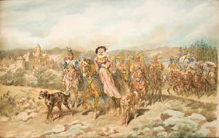 Starościna czorsztyńska Dorota Gniewoszowa w podróży