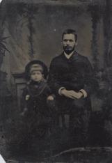 Portret atelierowy ojca i syna z rodziny Góbińskich