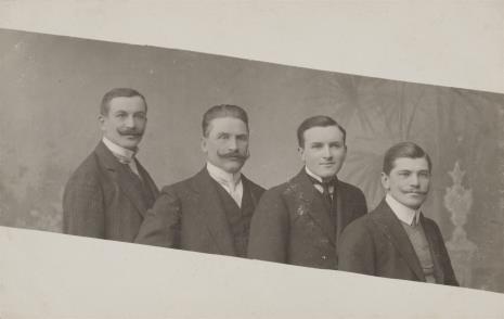 nieznany, Portret czterech mężczyzn