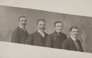 Portret czterech mężczyzn
