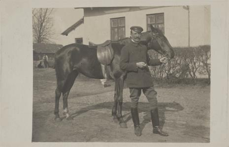 nieznany, Mężczyzna z koniem