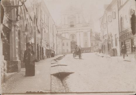 Wacław Szpakowski, Ryga, widok ulicy