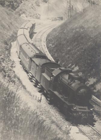 Aleksander Krzywobłocki, Pejzaż z lokomotywą