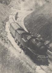 Pejzaż z lokomotywą