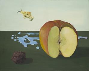 Trzy jabłka w pejzażu