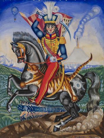 Zygmunt Waliszewski, Jeździec na koniu