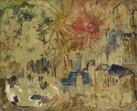 Leon Chwistek, Pejzaż z domami