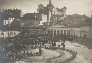Widok z pałacu biskupiego na Dominikanów
