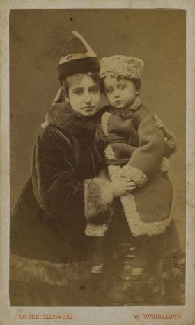 Jan Mieczkowski, Portret kobiety z dzieckiem